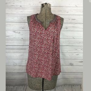 One September size xs pleated tank floral